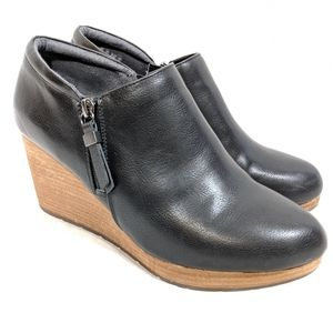 Dr Scholl's Work It Black Wedge Ankle Boots